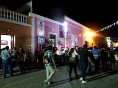 Merida Yucatan Mexico, people celebrating Hanal Pixan / Day of the Dead on the streets.