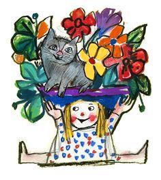 Lele Luzzati - La bimba e il gatto