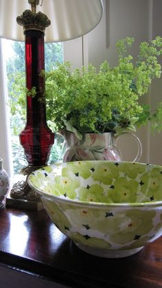 Emma Bridgewater Studio Special Green Hellebore Salad Bowl
