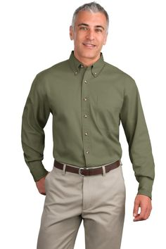 Mens Big and Tall Shirt, button-down at True to Size Apparel online. Wholesale embroidered logo & plain tall men's denim shirt sale.