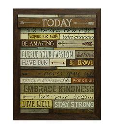 Star Creations Today Is A Brand New Day Wall Art   Herberger's