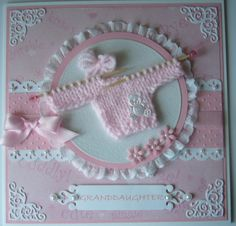 Stamps and Paper: Baby cards - sweater knitted on octal sticks!!!
