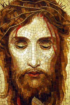 Jesus Christ Painting, Jesus Art, Mosaic Tile Art, Mosaic Artwork, Catholic Art, Religious Art, Mosaic Portrait, Pictures Of Jesus Christ, Biblical Art