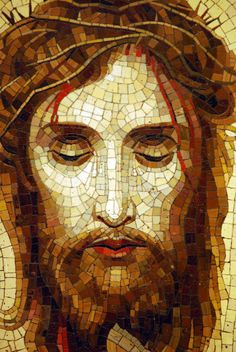Mosaic Tile Art, Mosaic Artwork, Mosaic Glass, Jesus Christ Painting, Jesus Art, Catholic Art, Religious Art, Pictures Of Jesus Christ, Mosaic Portrait