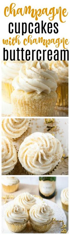 champagne cupcakes with champagne buttercream | champagne cupcake recipes | champagne cupcakes from scratch | champagne cupcakes easy | bridal shower champagne cupcakes | wedding champagne cupcakes