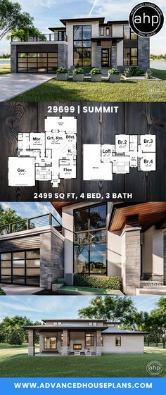 Modern home design – Home Decor Interior Designs Layouts Casa, House Layouts, Modern House Plans, Modern House Design, Beautiful House Plans, Modern Architecture House, Architecture Design, Prairie House, Farmhouse Landscaping