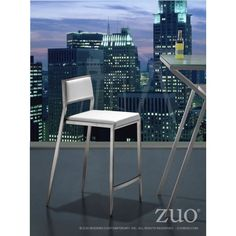 Black Dolemite Counter Chair by Zuo Modern 300188