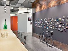 Tough As Nails: Tough Mudder by M. Moser Associates | Projects | Interior Design. cork pin up board