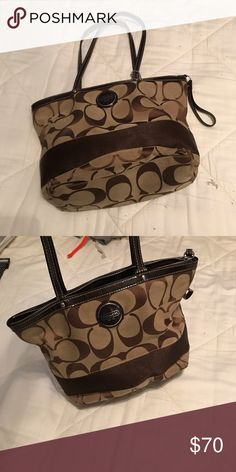 933d4a37c3 Coach Bucket Zip Tote Coach signature design zippered tote purse Coach Bags  Totes