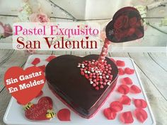 Pastel Corazón Con Glaseado De Chocolate 14 De Febrero - YouTube