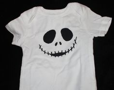 HALLOWEEN Cute Baby Onesie Bodysuit Boy or Girl Jack Skellington Infant Baby Humor Creeper Childrens clothing
