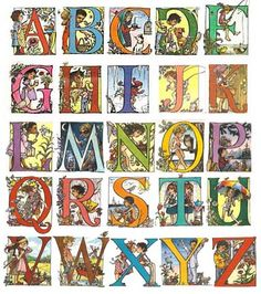 Trina Schart Hyman from the book, A Little Alphabet or The Alphabet Game