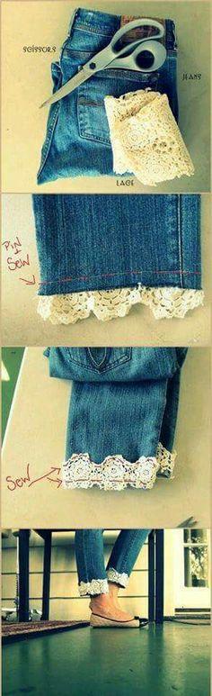 Linda idea para mejorar tus jeans