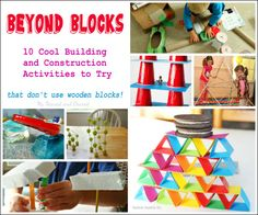 10 Building and Construction Activities to Try at Home or in the Classroom. Think beyond traditional building blocks. #STEM