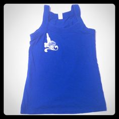 Miller Girl Tank Top Miller blue with Miller Lite logo. Could fit a small. Tops Tank Tops