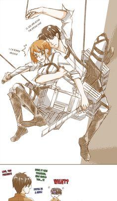 Levi x Petra Attack On Titan Season, Attack On Titan Funny, Attack On Titan Ships, Attack On Titan Anime, Anime Demon, Manga Anime, Levi And Petra, Eren And Mikasa, Rivamika