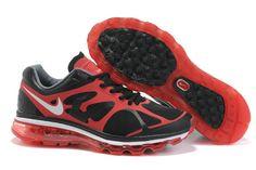 Danmark Billige Nike Air Max 2012 Black/Red/Red Logo