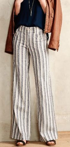love these striped linen pants http://rstyle.me/n/vwwtvr9te