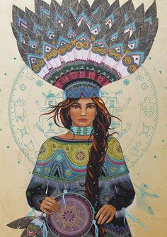 Invocation and Prayer ☽ Navigating the Mystery .. medicine woman by Caroline Maniere