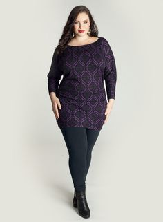 Toccara Sweater Tunic in Purple. IGIGI by Yuliya Raquel. www.igigi.com