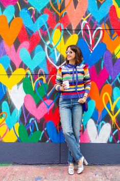 Wear + Where + Well : we're so happy about all the colorful stripes popping up this season!