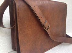 leather messenger bag Handmade full flap cross body/ Laptop bag/ MacBook bag/ Retro leather Satchel/ shoulder bag via Etsy Laptop Messenger Bags, Canvas Messenger Bag, Laptop Bag, University Bag, Macbook Bag, Bags 2015, College Bags, Leather Crossbody Bag, Leather Bags