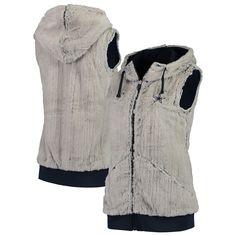 low priced 0592b ea9ae NFL Dallas Cowboys Antigua Women s Rant Hooded Full-Zip Vest     Silver