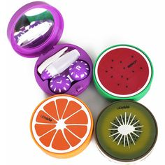 mirror bicycle Picture from Online Store 615902 about Multi pattern Travel Soak Storage Cute Fruit Contact Lens Case Box Holder Mirror Picture, case butterfly … Fashion Contact Lenses, Contact Lens Cases, Bicycle Pictures, Halloween Contacts, Cute Fruit, Colored Contacts, Travel Kits, E Bay, Cool Things To Buy
