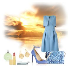 """Morning Glory"" by romaosorno ❤ liked on Polyvore featuring мода, Giorgio Armani, Dolce&Gabbana, Aquazzura, Fraiche, AERIN и Clinique"
