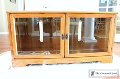 Media Cabinet Makeover in GF Snow White – The Crowned Goat Media Cabinet, China Cabinet, Cabinet Furniture, Furniture Makeover, Painting Laminate Furniture, Cabinet Makeover, Goat, Liquor Cabinet, Snow White