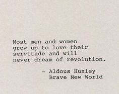 Brave New World Aldous Huxley Quotes | Aldous huxley | Etsy
