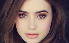 lilly collins - gorgeous makeup