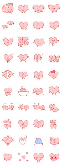 The heart which is being happy and is grinning Manga Illustration, Graphic Illustration, Illustrations, Mascot Design, Line Sticker, Cute Characters, Emoticon, Cool Patterns, Cute Stickers