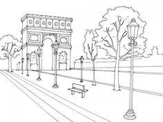 Colouring Arc de Triomphe