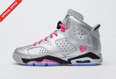 the latest e841f 34068 Womens Silver Pink Valentine Day AIR JORDAN 6 RETRO 543390-009 On Cyber  Monday