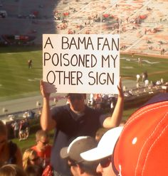 Uh oh! Saw this at the Auburn/Florida game last weekend. LOVE!