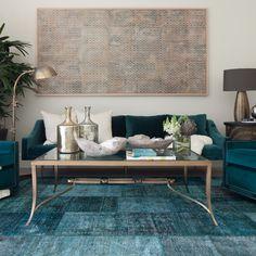 teal turqoise persian overdyed rug decor