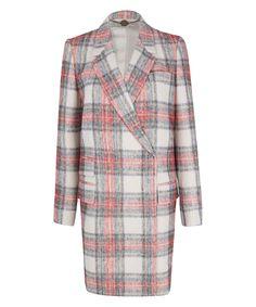 Stella McCartney Ivory Tartan Esme Wool-Blend Coat   want want want