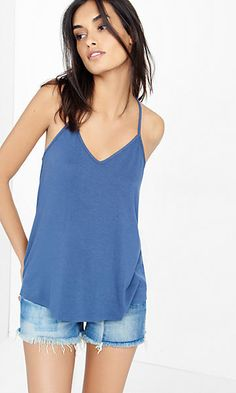 express one eleven strappy back trapeze cami