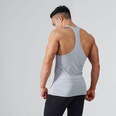 Fitness Gym Stringer | Stringer Vest | Grey | Gymshark