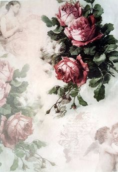 Rice Paper for Decoupage Scrapbooking Sheet Craft Vintage Roses and Angels | eBay