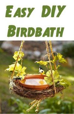 Easy DIY Birdbath!