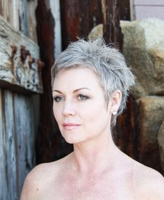 young grey pixie hair - Google Search
