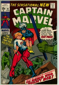 "Captain Marvel vol. 1 # 20, ""The Hunter and the Holocaust"" (June, 1970). Cover by Gil Kane & Dan Adkins."
