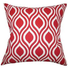 The Pillow Collection Poplar Geometric Cotton Throw Pillow Cover Color: