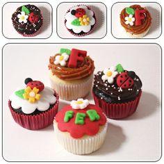 Blog Design & Cook: Cupcakes de Joaninhas!!!