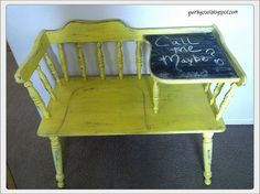 upcycled telephone desk, painted furniture, repurposing upcycling, The process Types Of Furniture, Diy Furniture Projects, Upcycled Furniture, Furniture Making, Furniture Makeover, Vintage Furniture, Painted Furniture, Vintage Telephone Table, Gossip Bench