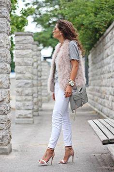 Light Pink Faux Fur Vest