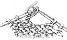 knitted Stitch One-Row Buttonhole fig 3