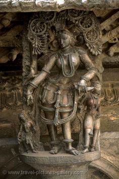 Pictures of India - Karnataka- - Belur and Halebid, temple sculpture, Hindu gods Indian Gods, Indian Art, Asian Sculptures, Apocalypse Art, History Of India, Indian Architecture, Hampi, Indian Heritage, Karnataka